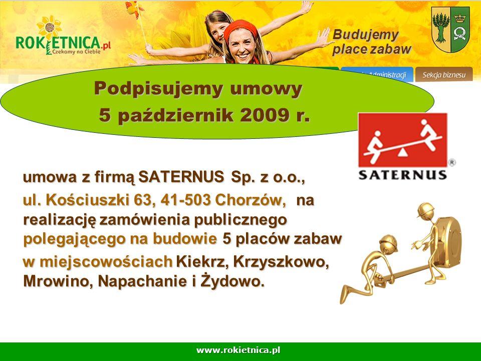 Podpisujemy umowy 5 październik 2009 r.