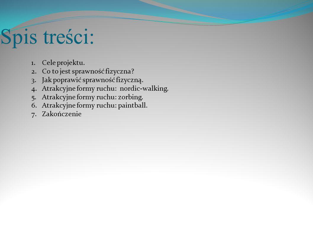 Spis treści: Cele projektu. Co to jest sprawność fizyczna