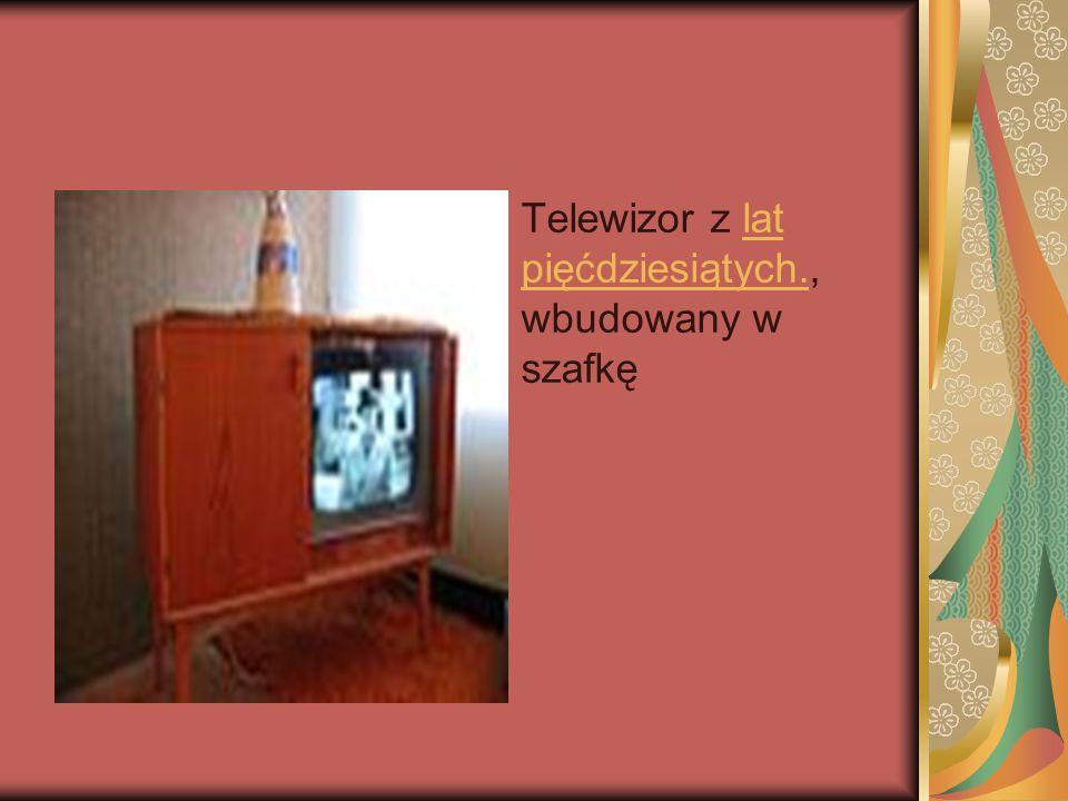 Telewizor z lat pięćdziesiątych., wbudowany w szafkę