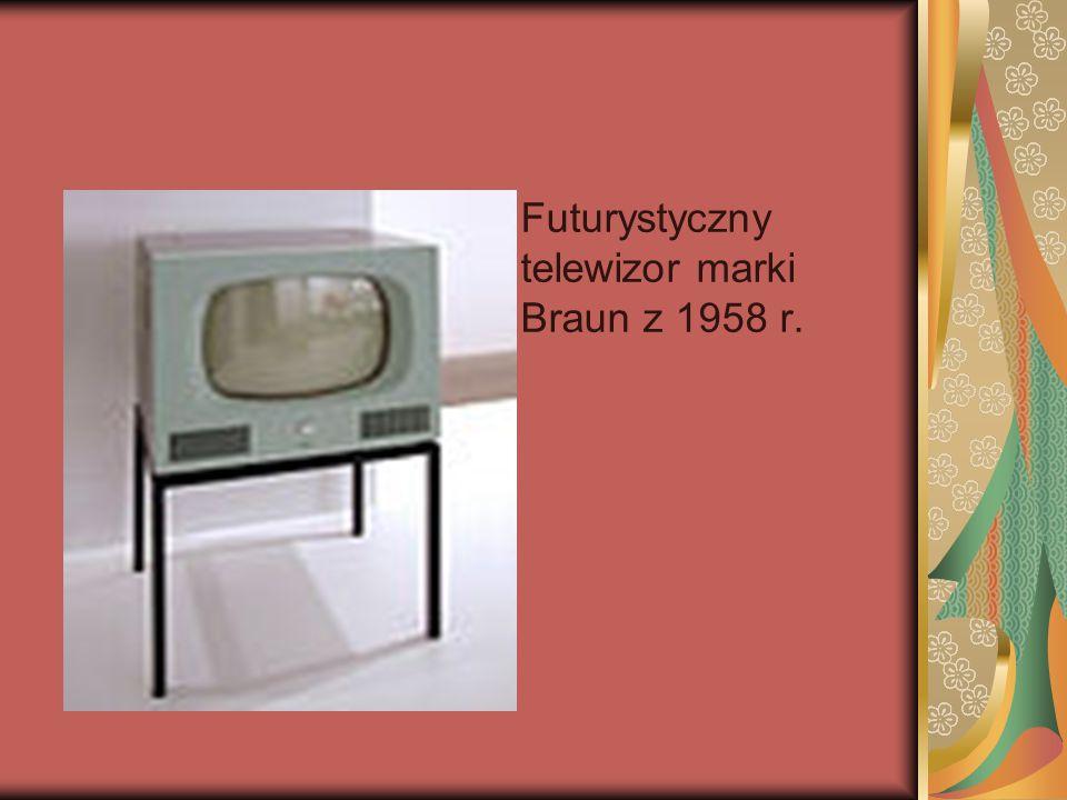 Futurystyczny telewizor marki Braun z 1958 r.