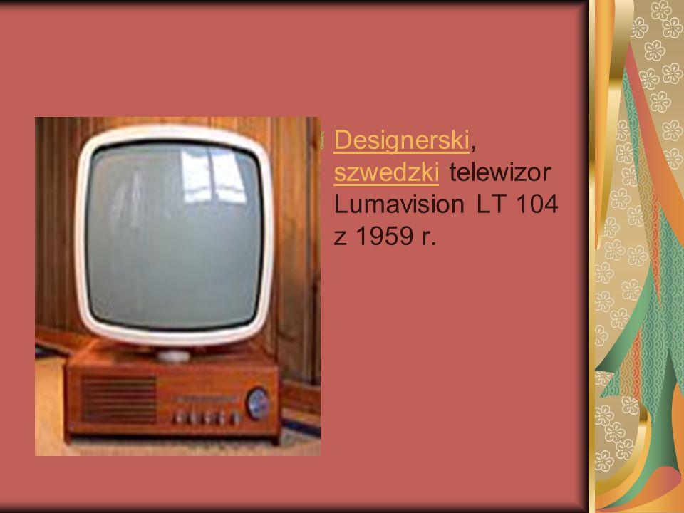 Designerski, szwedzki telewizor Lumavision LT 104 z 1959 r.