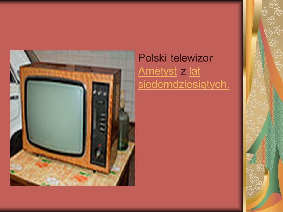 Polski telewizor Ametyst z lat siedemdziesiątych.