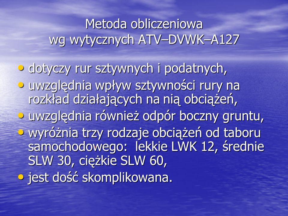 Metoda obliczeniowa wg wytycznych ATV–DVWK–A127