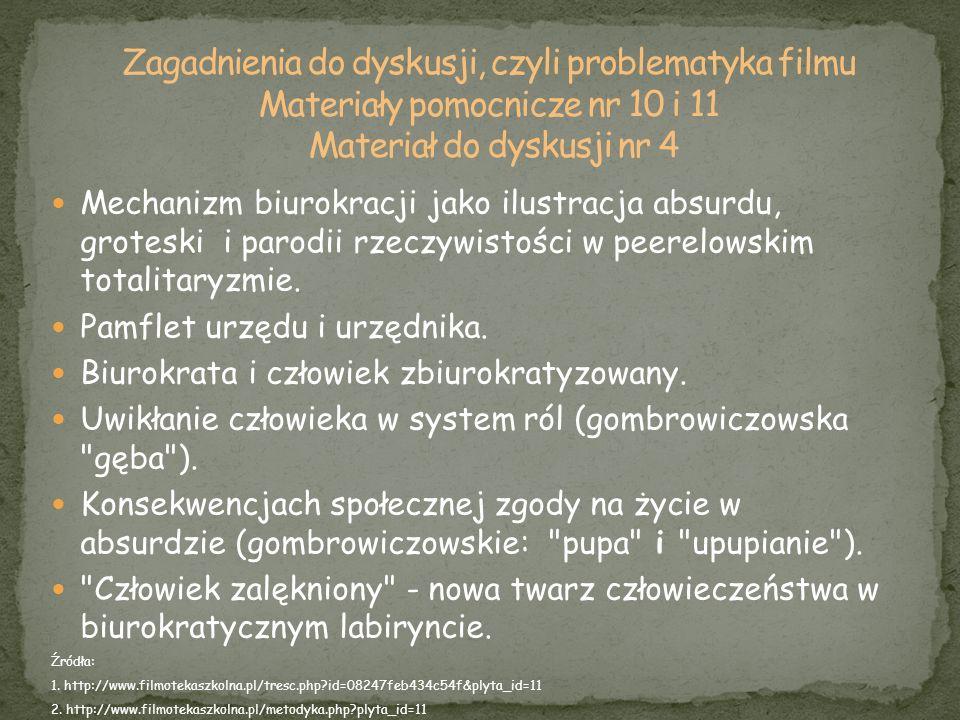 Zagadnienia do dyskusji, czyli problematyka filmu Materiały pomocnicze nr 10 i 11 Materiał do dyskusji nr 4