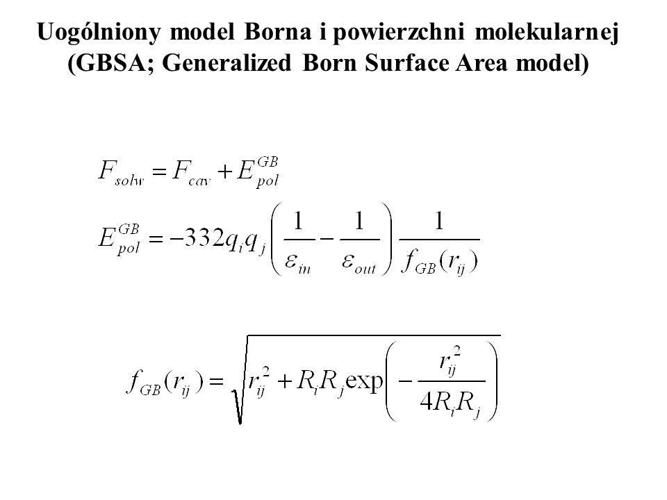 Uogólniony model Borna i powierzchni molekularnej