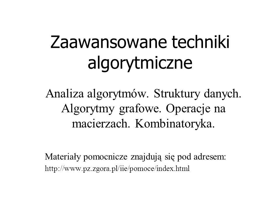 Zaawansowane techniki algorytmiczne