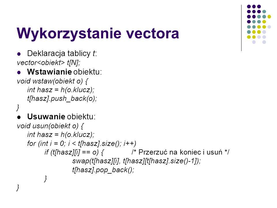 Wykorzystanie vectora