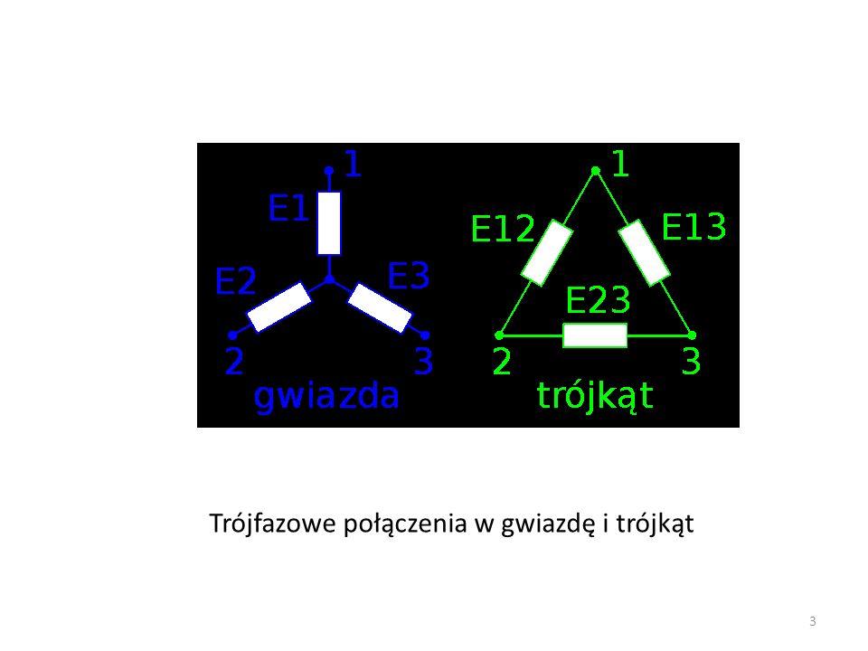 Trójfazowe połączenia w gwiazdę i trójkąt