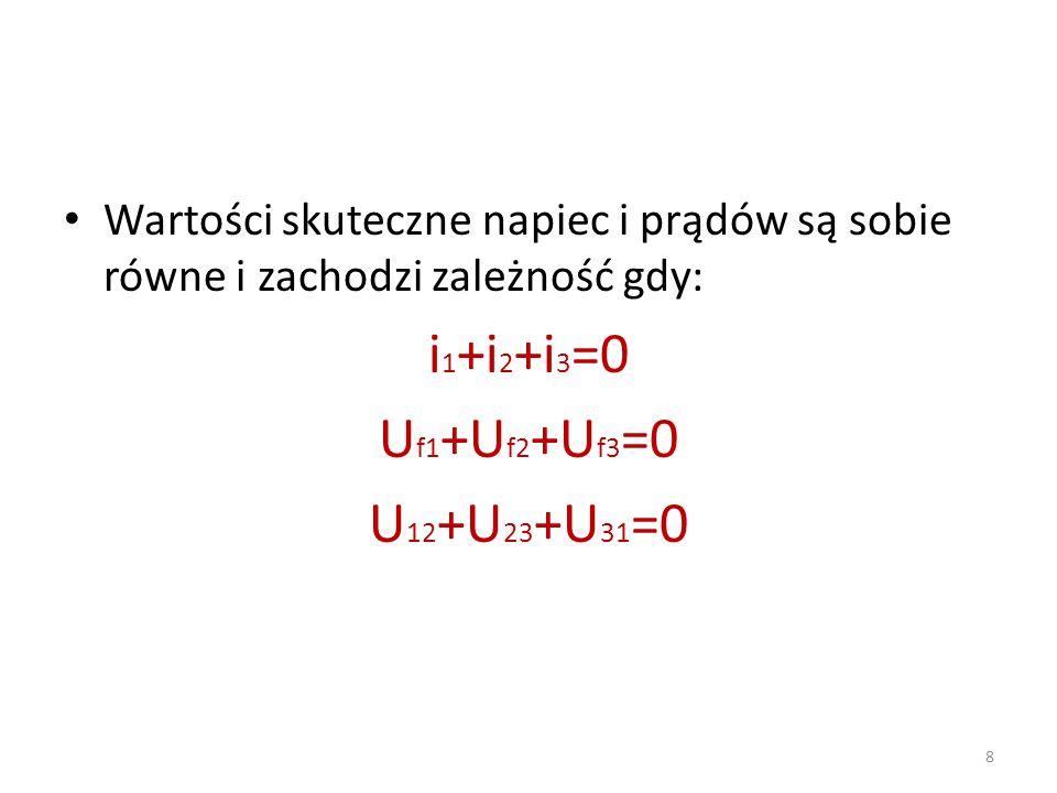 i1+i2+i3=0 Uf1+Uf2+Uf3=0 U12+U23+U31=0