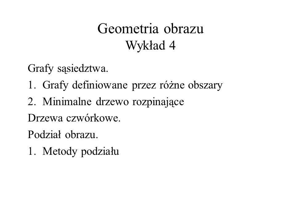 Geometria obrazu Wykład 4