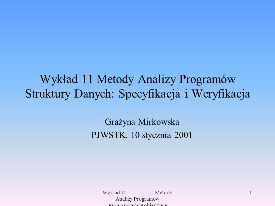 Grażyna Mirkowska PJWSTK, 10 stycznia 2001