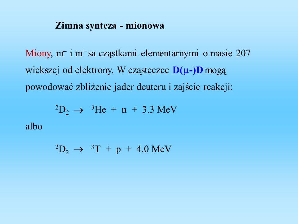 Zimna synteza - mionowa