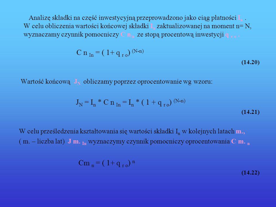 C n In = ( 1+ q r o) (N-n) Cm n = ( 1+ q r o) n