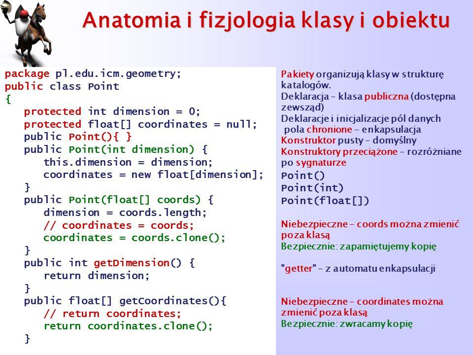 Anatomia i fizjologia klasy i obiektu