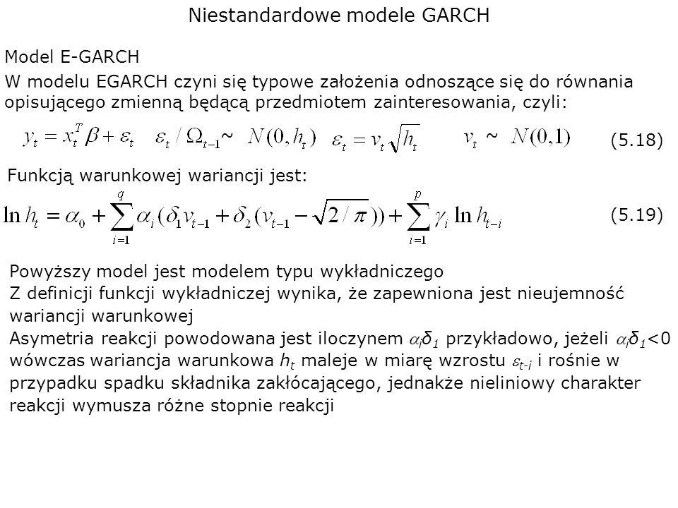Niestandardowe modele GARCH