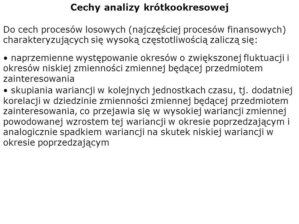 Cechy analizy krótkookresowej