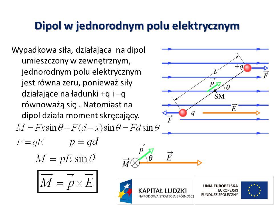 Dipol w jednorodnym polu elektrycznym