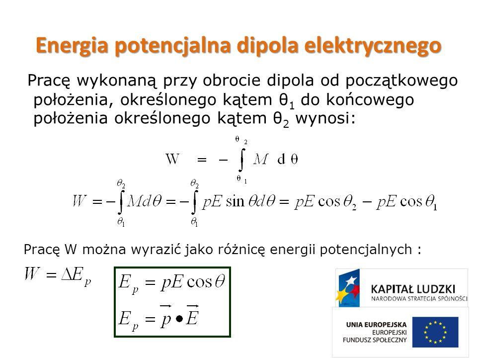 Energia potencjalna dipola elektrycznego