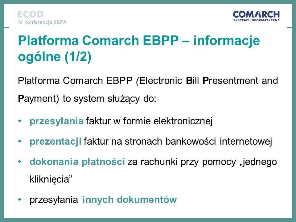 Platforma Comarch EBPP – informacje ogólne (1/2)