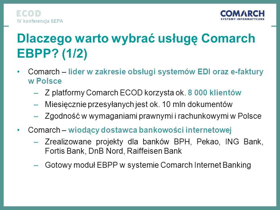 Dlaczego warto wybrać usługę Comarch EBPP (1/2)
