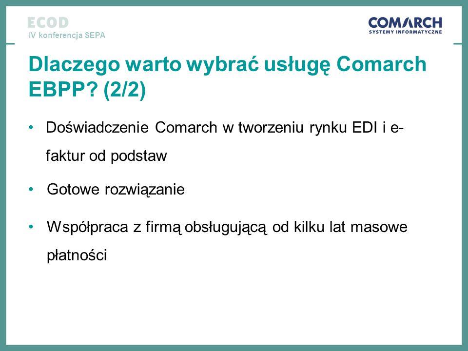 Dlaczego warto wybrać usługę Comarch EBPP (2/2)