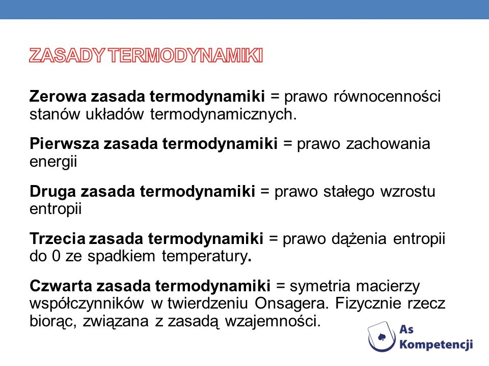 Zasady termodynamiki
