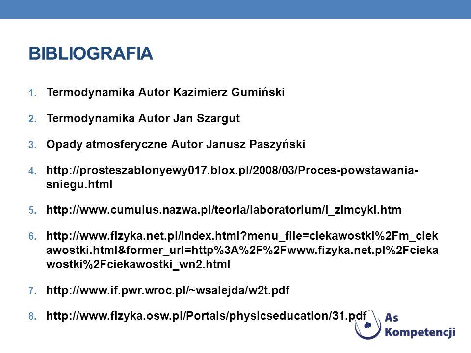 bibliografia Termodynamika Autor Kazimierz Gumiński