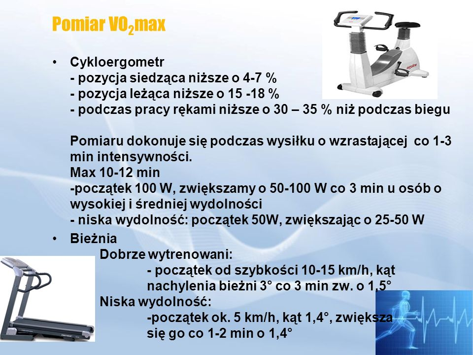 Pomiar VO2max