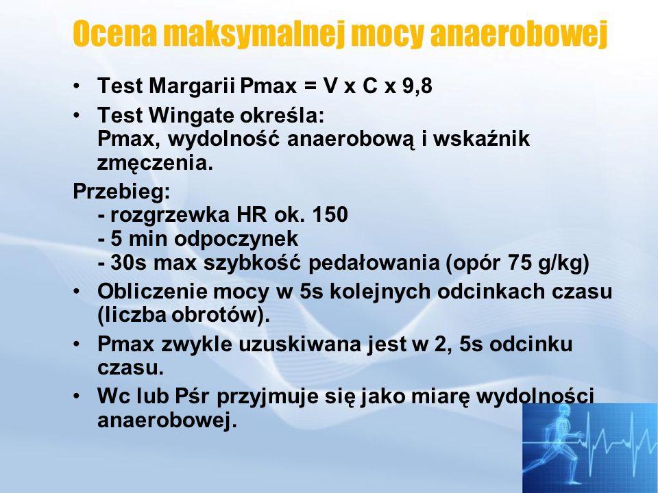 Ocena maksymalnej mocy anaerobowej