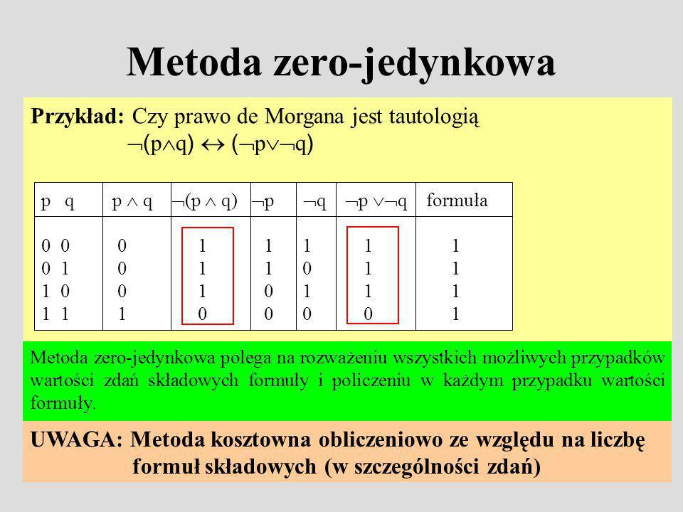 Metoda zero-jedynkowa