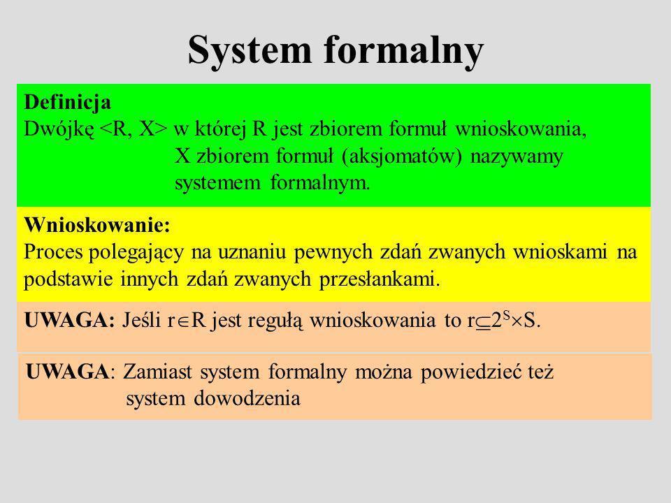 System formalny Definicja