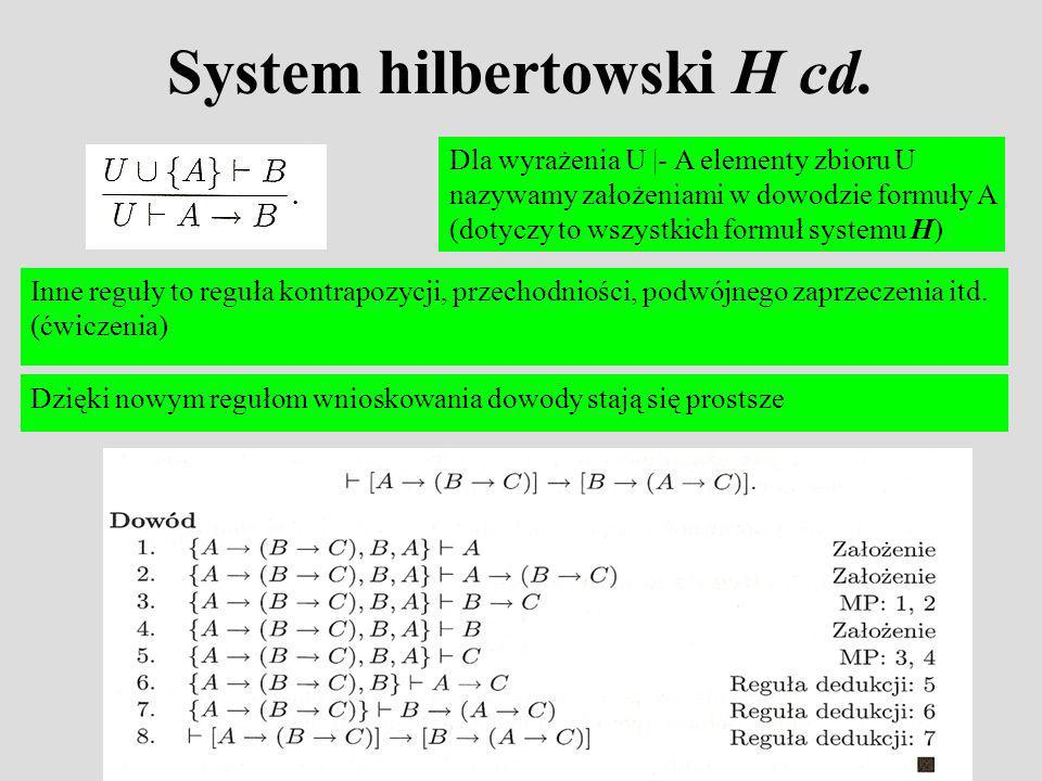 System hilbertowski H cd.