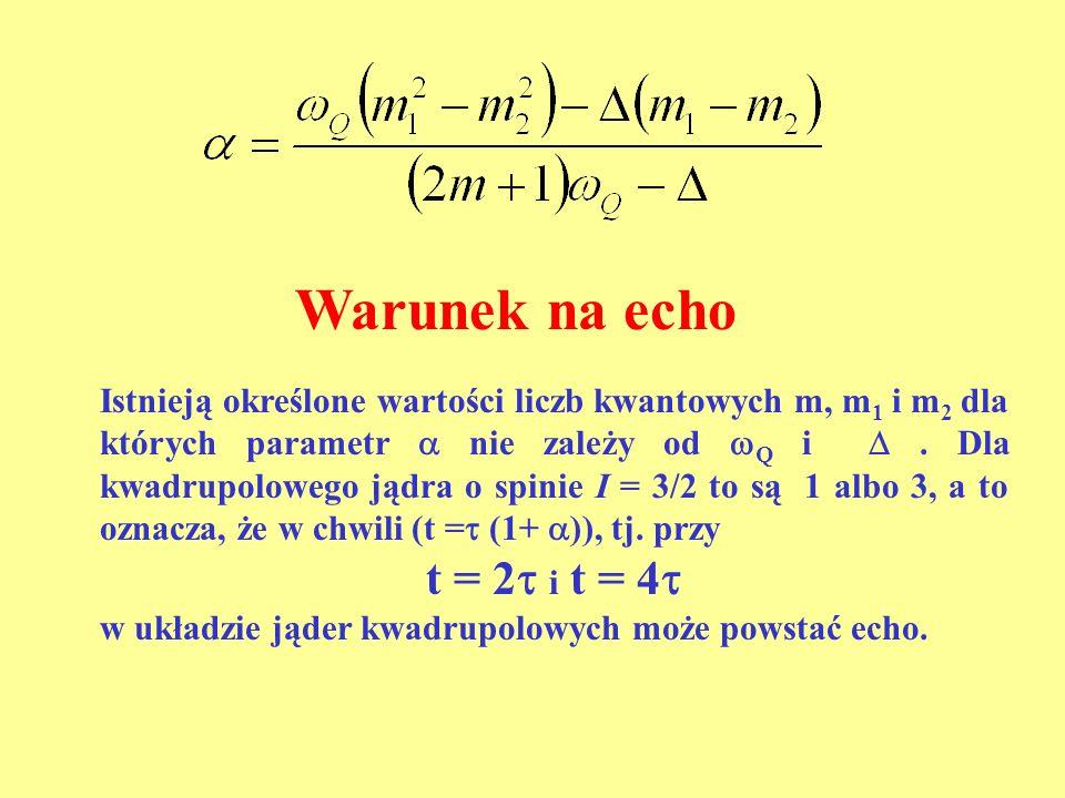 Warunek na echo t = 2 i t = 4
