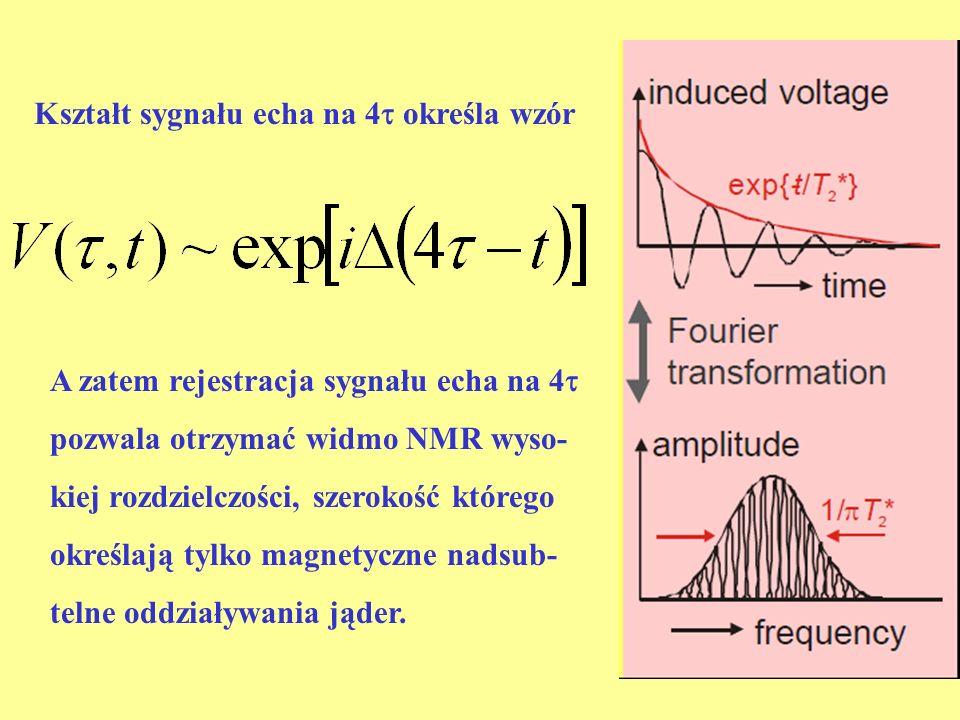 Kształt sygnału echa na 4 określa wzór