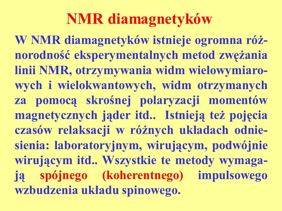 NMR diamagnetyków
