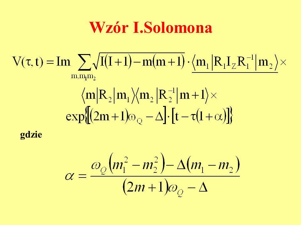 Wzór I.Solomona gdzie