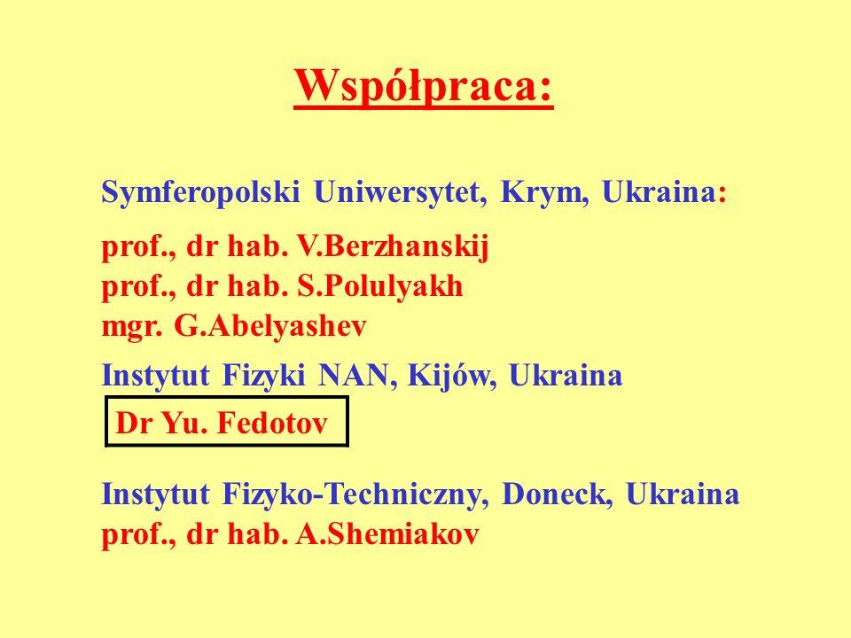 Współpraca: Symferopolski Uniwersytet, Krym, Ukraina:
