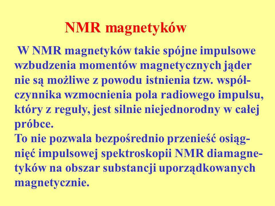 NMR magnetyków
