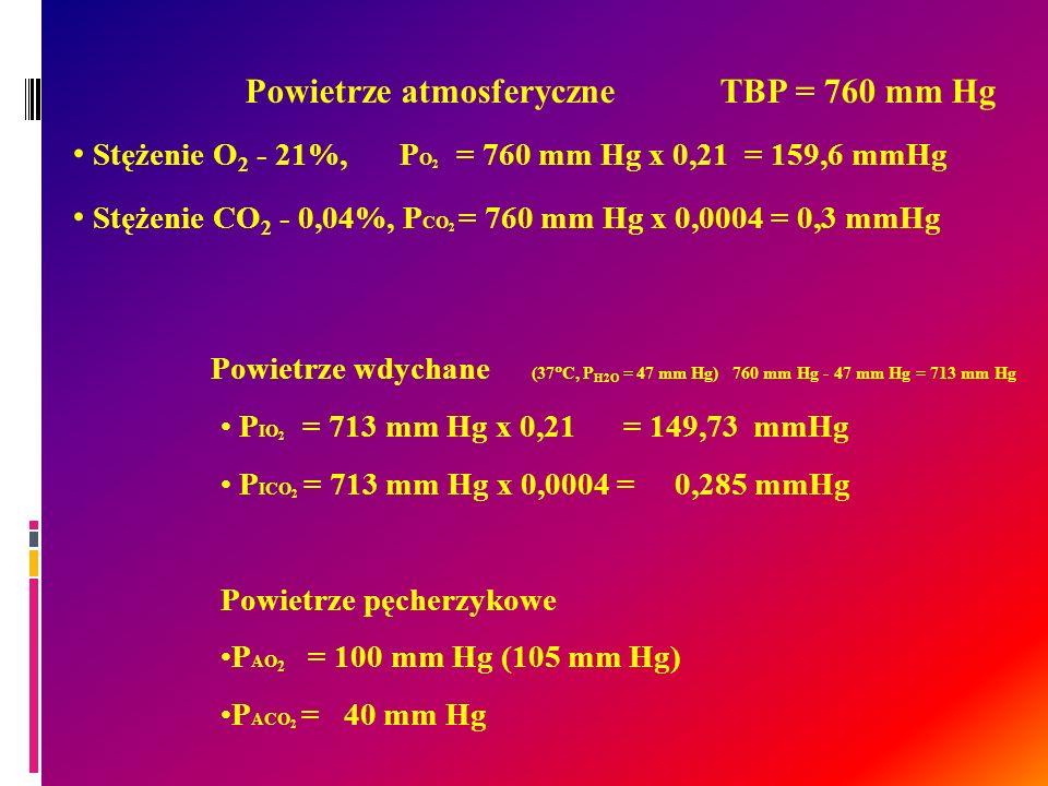 Powietrze atmosferyczne TBP = 760 mm Hg