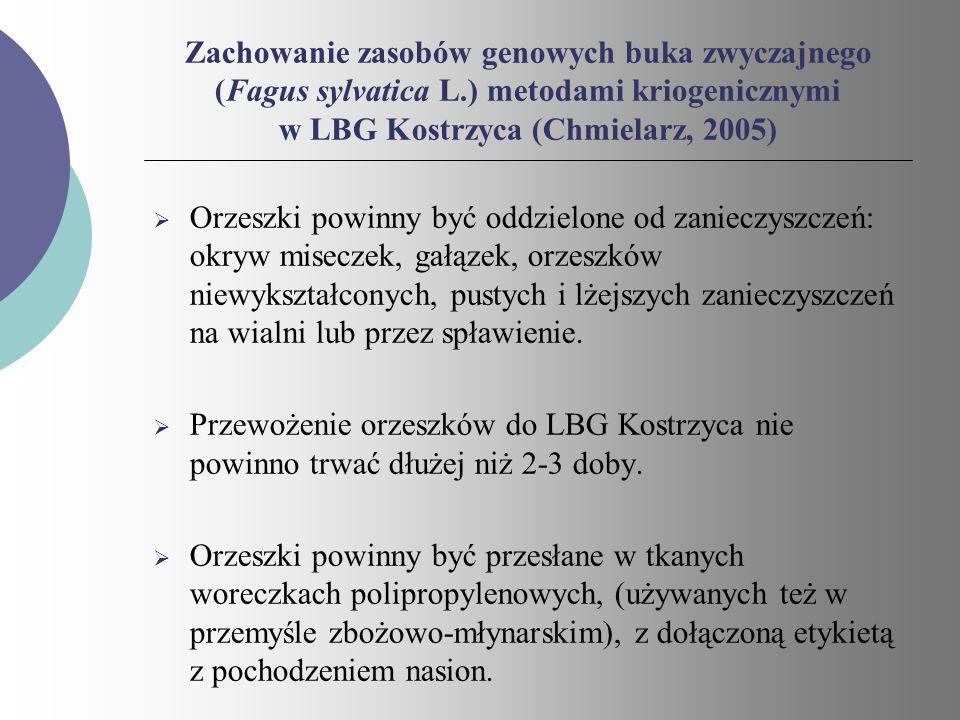 Zachowanie zasobów genowych buka zwyczajnego (Fagus sylvatica L