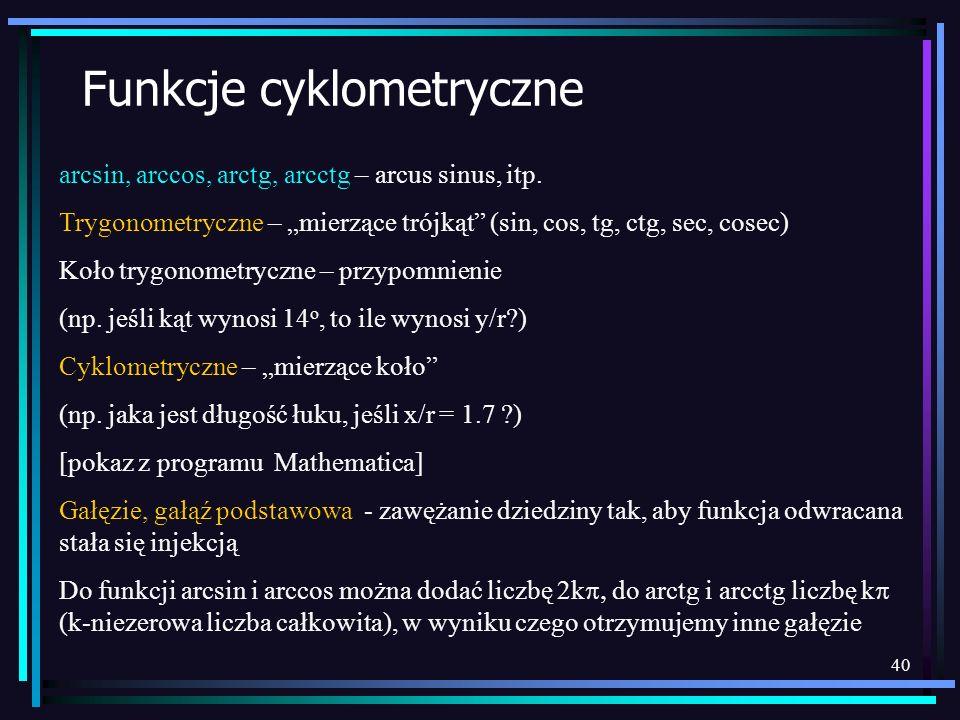 Funkcje cyklometryczne