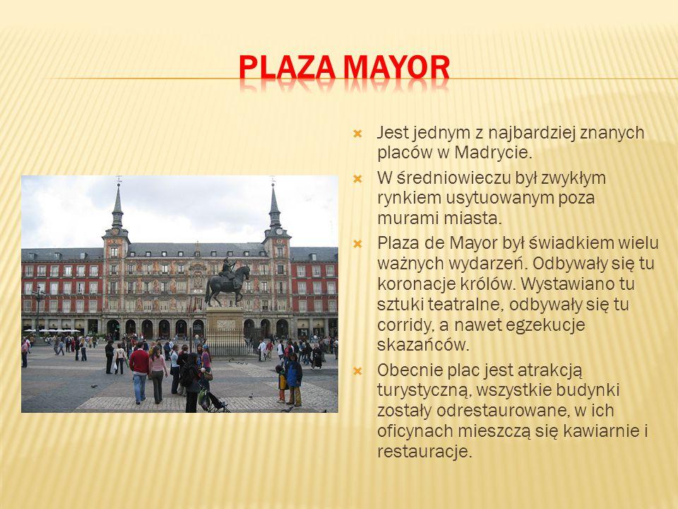 Plaza mayor Jest jednym z najbardziej znanych placów w Madrycie.