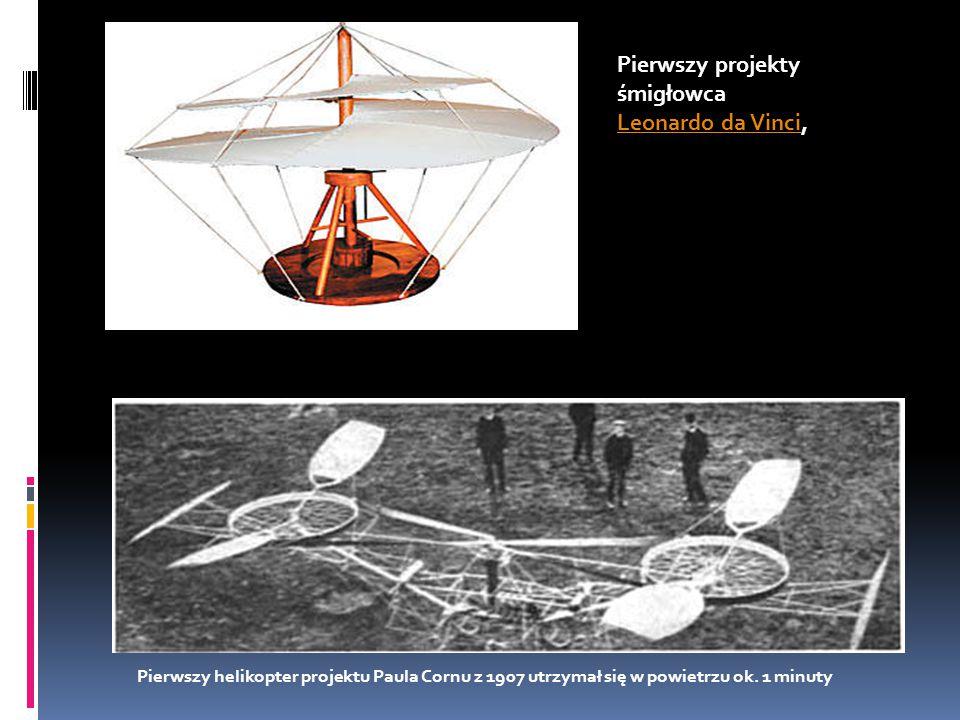 Pierwszy projekty śmigłowca Leonardo da Vinci,