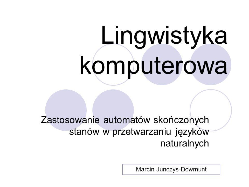 Lingwistyka komputerowa