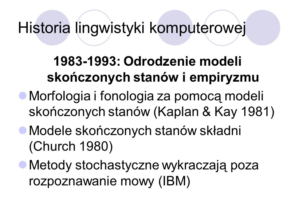 Historia lingwistyki komputerowej