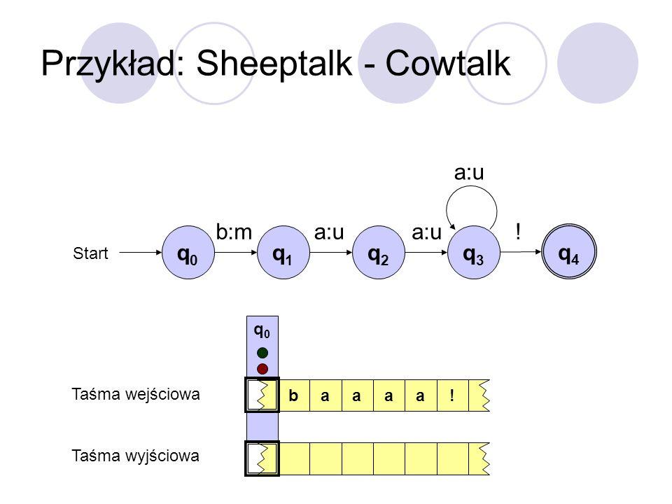 Przykład: Sheeptalk - Cowtalk