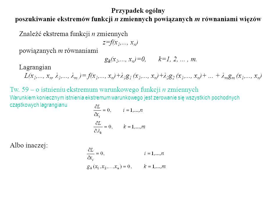 Znaleźć ekstrema funkcji n zmiennych z=f(x1,..., xn)