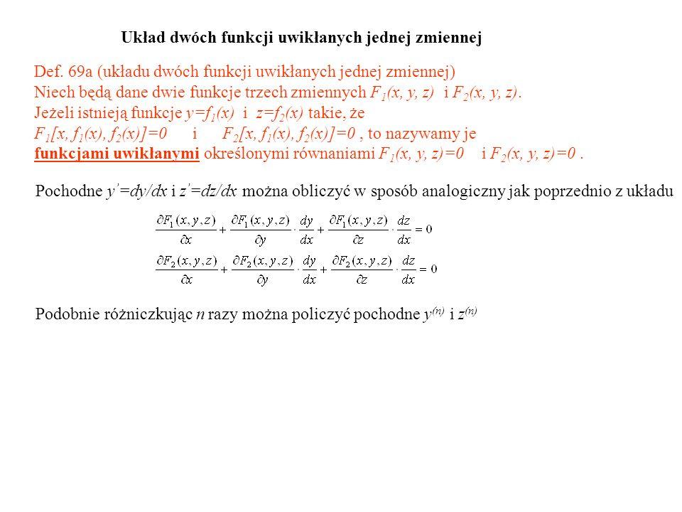 Układ dwóch funkcji uwikłanych jednej zmiennej