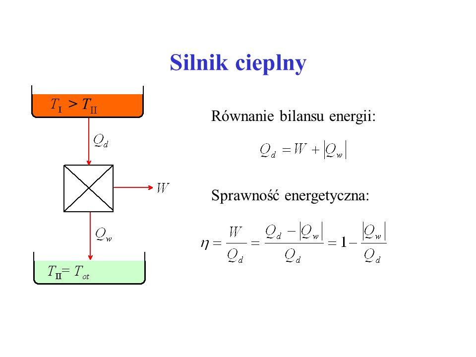 Silnik cieplny > TII Równanie bilansu energii: