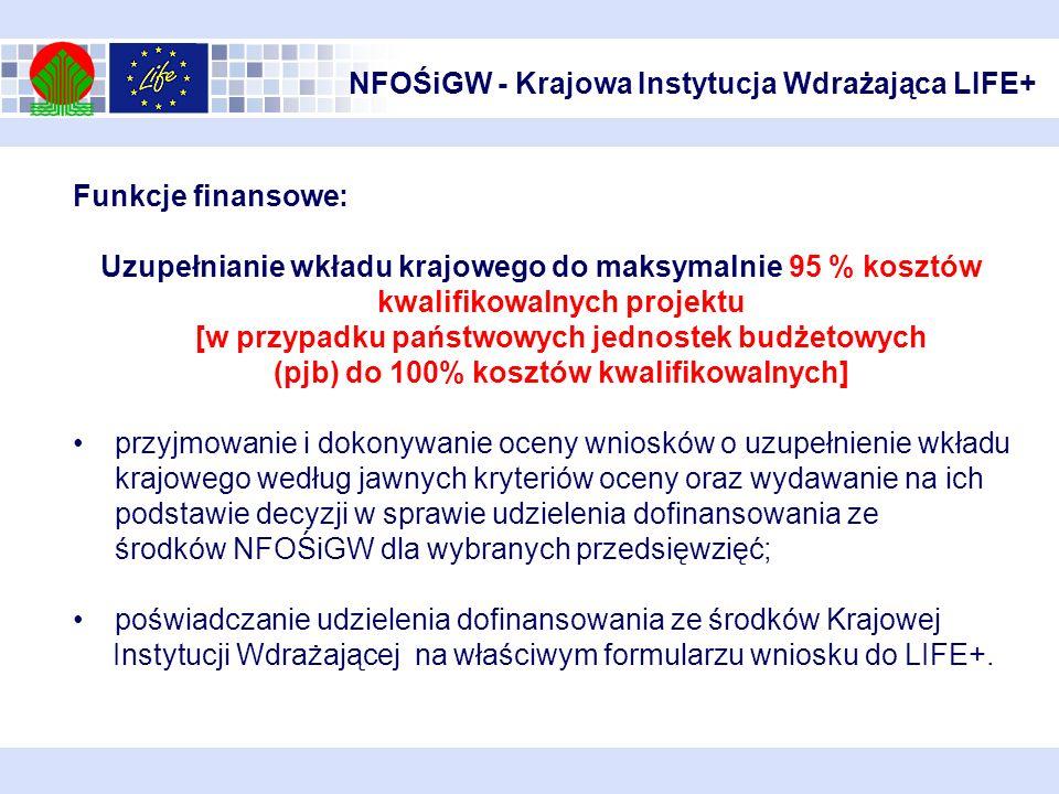 NFOŚiGW - Krajowa Instytucja Wdrażająca LIFE+
